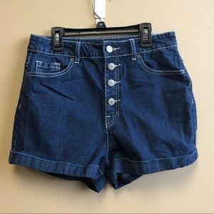 UO BDG super high rise Roxy denim shorts 29